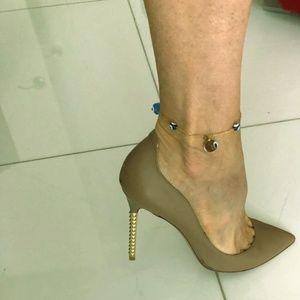 Jewelry - ankle brace/ bracelet 18 k gold w evil eye